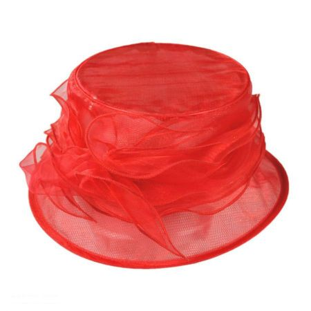 sur la tete Organza Packable Cloche Hat