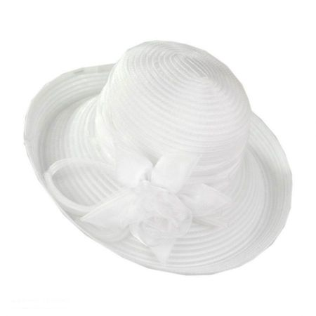 sur la tete Organza Ribbon Kettle Hat