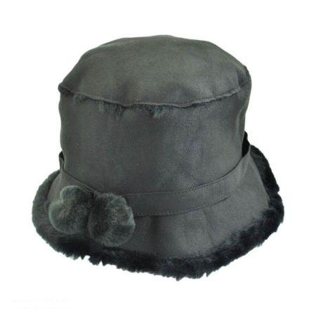 sur la tete Siberian Faux Suede Bucket Hat
