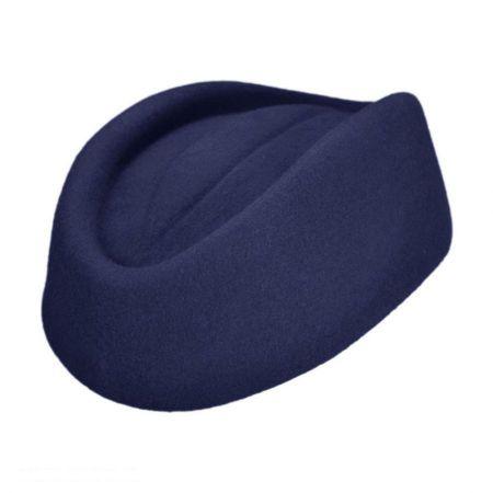 sur la tete Stewardess Wool Pillbox Hat