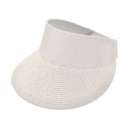 sur la tete Torrey Pines Toyo Straw Braid and Cotton Visor