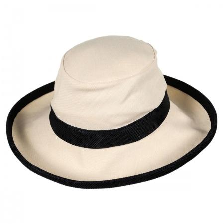 TH8 Hemp Sun Hat - Natural/Black alternate view 7