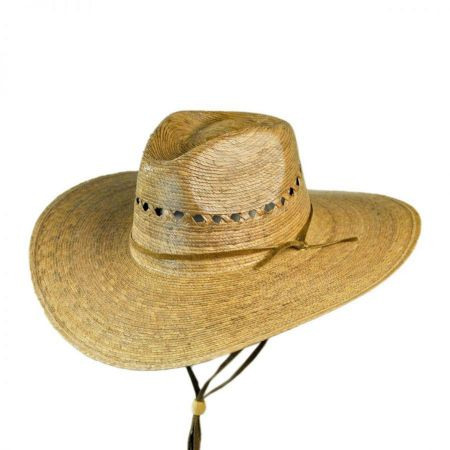 Gardener Lattice Palm Straw Wide Brim Hat