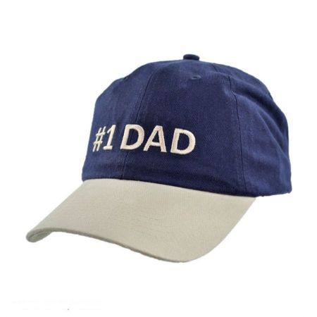 #1 Dad Strapback Baseball Cap
