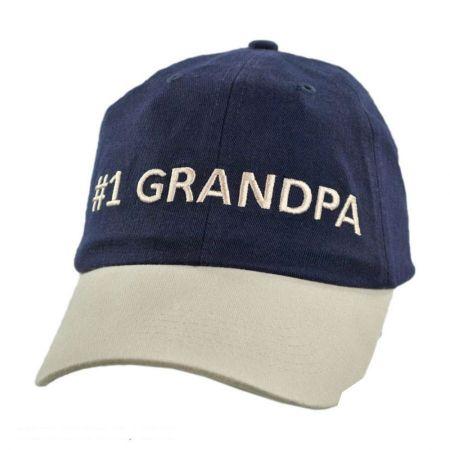 #1 Grandpa Strapback Baseball Cap