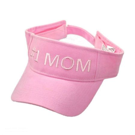 #1 Mom Cotton Adjustable Visor alternate view 1