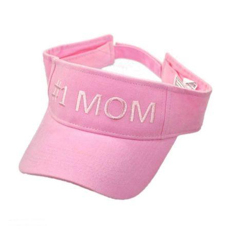 #1 Mom Cotton Adjustable Visor