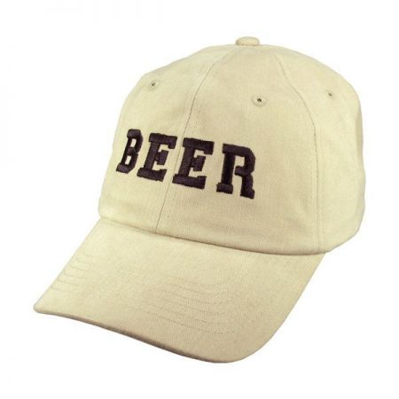Village Hat Shop BEER Adjustable Baseball Cap (Stone)