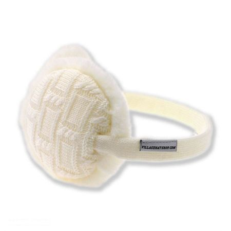 Village Hat Shop Cable Knit Earmuffs