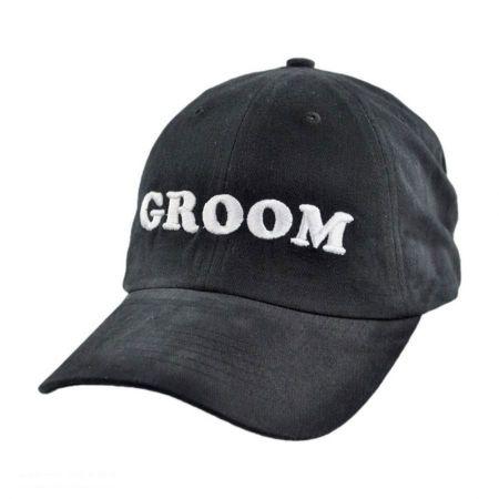 Village Hat Shop Groom Strapback Baseball Cap Dad Hat