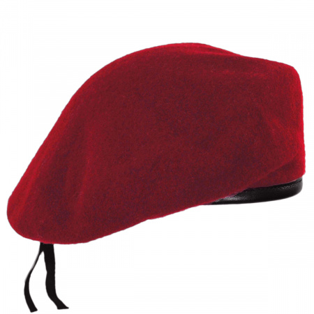 Wool Military Beret with Lambskin Band alternate view 7
