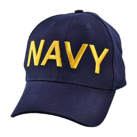 Village Hat Shop Navy Adjustable Baseball Cap