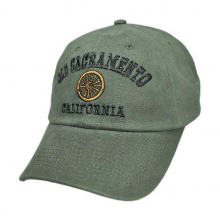 Village Hat Shop Old Sacramento Wheel Strapback Baseball Cap
