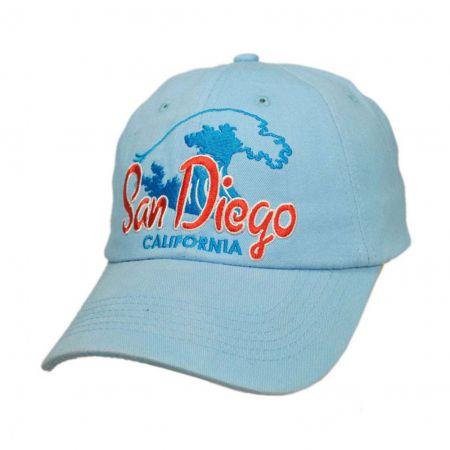 Village Hat Shop San Diego, California Waves Strapback Baseball Cap