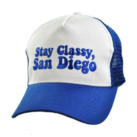 Village Hat Shop Stay Classy, San Diego Adjustable Baseball Cap