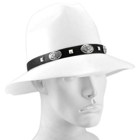 Stud Conch Faux Leather Hat Band