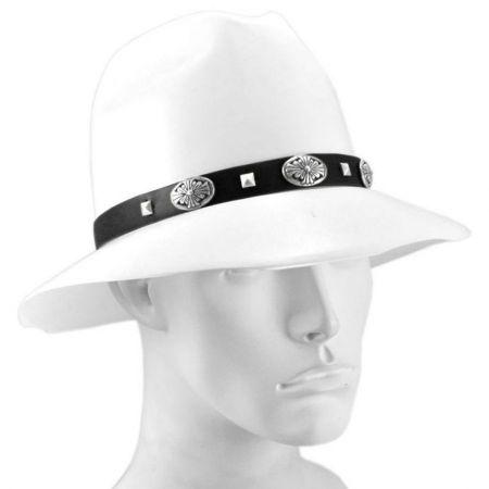 Village Hat Shop Stud Conch Faux Leather Hat Band