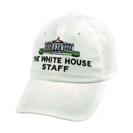 Village Hat Shop White House Staff Strapback Baseball Cap Dad Hat