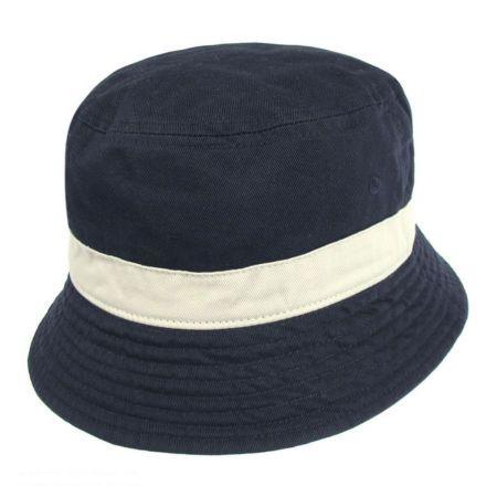 Village Hat Shop Two-Tone Cotton Bucket Hat