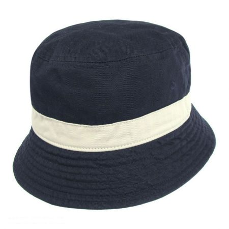 Two-Tone Cotton Bucket Hat