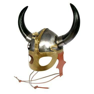 Viking Helmet with Mask and Dragon alternate view 1