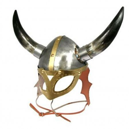 VikingHelmets.com Viking Helmet With Mask and Horns