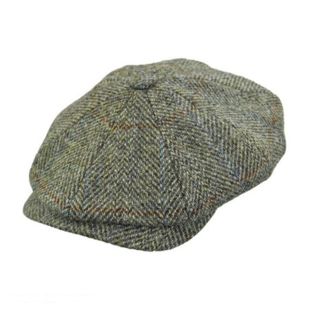 Wigens Caps Harris Tweed Wool Newsboy Cap