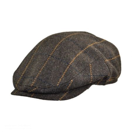 Wigens Caps Plaid Wool and Cashmere Earflap Ivy Cap