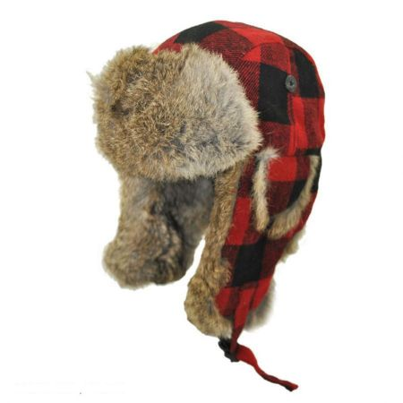 Buffalo Check Trapper Hat