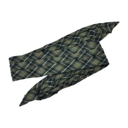 3 Pleat Plaid Hat Band