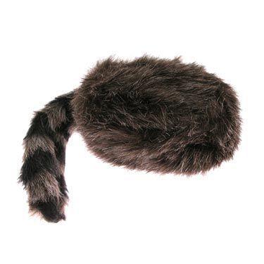 Adult Coonskin Faux Fur Cap