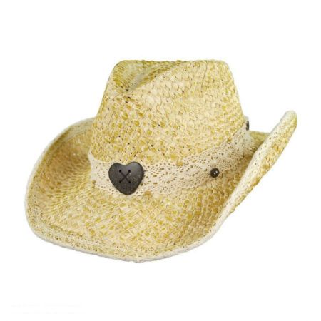 Tropical Trends Heart Bead Western Cowboy Hat