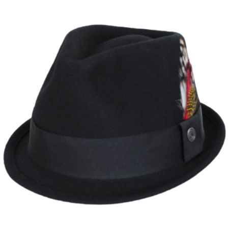 B2B Jaxon Dekker Crushable Wool Felt Trilby Fedora Hat