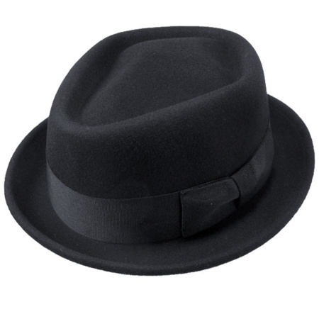 B2B Jaxon Wool Felt Diamond Crown Fedora Hat