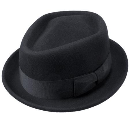 B2B Jaxon Wool Felt Diamond Crown Fedora Hat