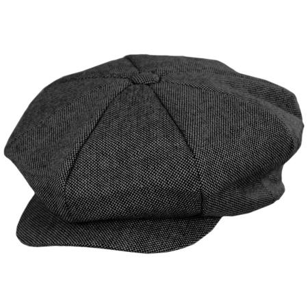 B2B Jaxon Marl Tweed Wool Blend Big Apple Cap