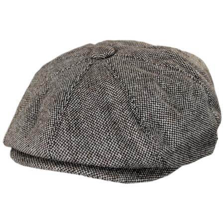 B2B Jaxon Marl Tweed Newsboy Cap
