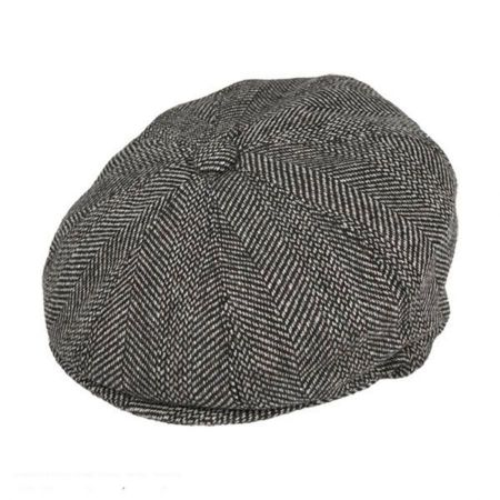 B2B Jaxon Mix Herringbone Wool Blend Newsboy Cap
