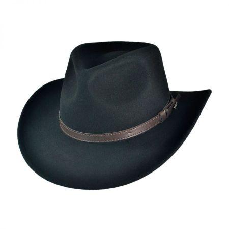 B2B Jaxon Crushable Wool Felt Outback Fedora Hat