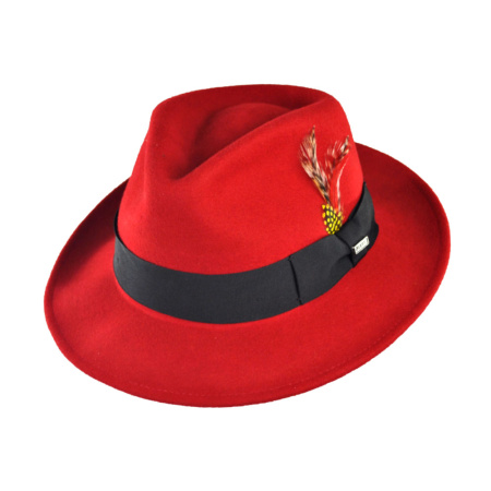 B2B Jaxon Pachuco Crushable Wool Felt C-Crown Fedora Hat