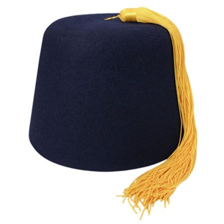 B2B Purple Fez with Gold Tassel