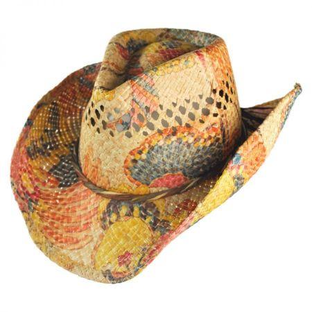 Floral Print Western Hat