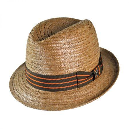 Dorm Center Dent Straw Fedora Hat