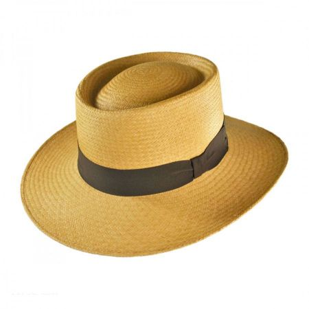 Jaxon Hats Cuenca Panama Straw Gambler Hat - Tan