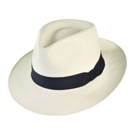 Novo Grade 8 Panama Straw Fedora Hat alternate view 1