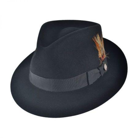Stetson Benchley Beaver Fur Felt Fedora Hat