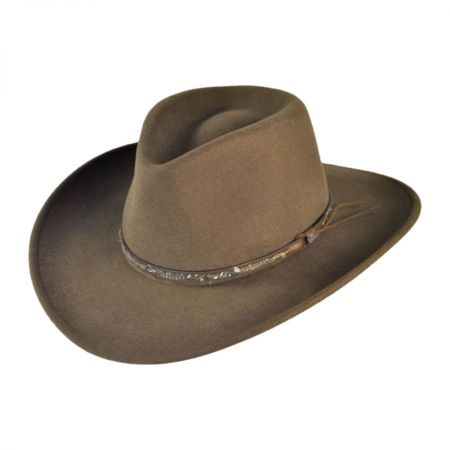 Stetson Mountain Sky Crushable Wool Felt Outback Hat