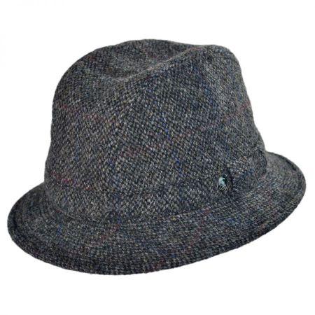City Sport Caps Windowpane Wool Trilby Fedora Hat