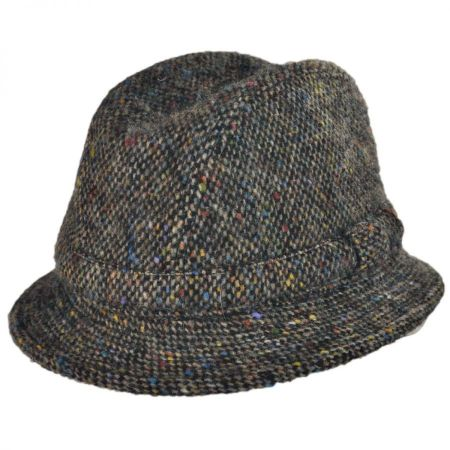 City Sport Caps Donegal Tweed Tic Weave Walker Fedora Hat