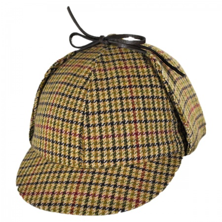 City Sport Caps Checkered British Wool Sherlock Holmes Deerstalker Hat
